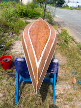 Photo: finish sanding the exterior side