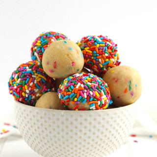Cake Batter Protein Bites [ Vegan / Paleo ].