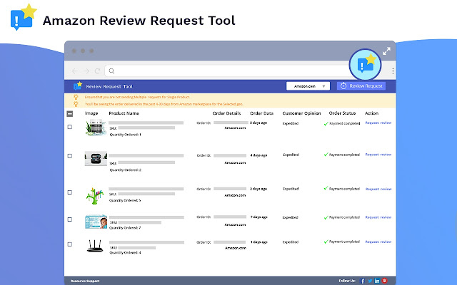 Amazon Review Request Tool