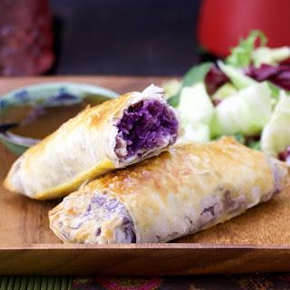 Skinny Purple Egg Rolls.