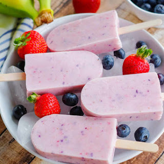 Banana Berry Smoothie Pops