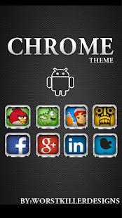 App CHROME APEX NOVA GO ADW THEME APK for Windows Phone