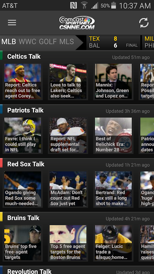CSN Local Sports- screenshot