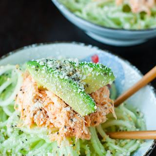 Spicy Sriracha Crab and Cucumber Salad.