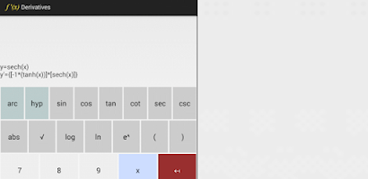 Derivatives Calculator - Android app on Appin on