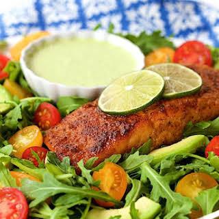 Mexican Sugar-Seared Salmon Salad.