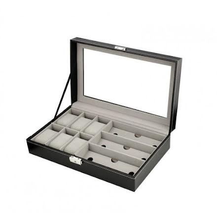 Klocklåda / Klockbox för 6 klockor 3 glasögon