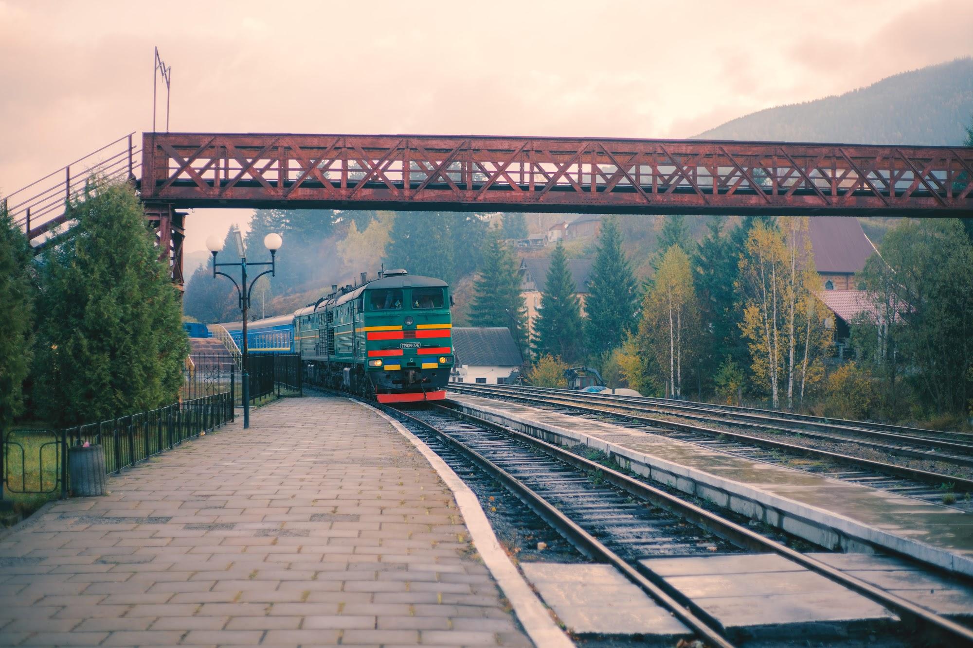 Залізнична станція у Ворохті