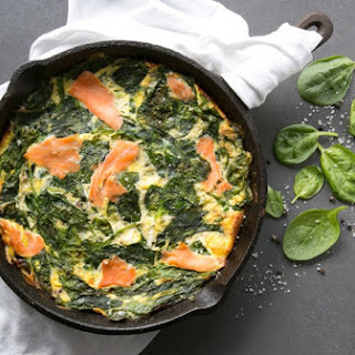 Crustless Salmon and Spinach Quiche