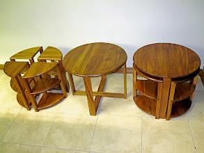 Photo: Bob McGregor  Nest Tables Tas Blackwood