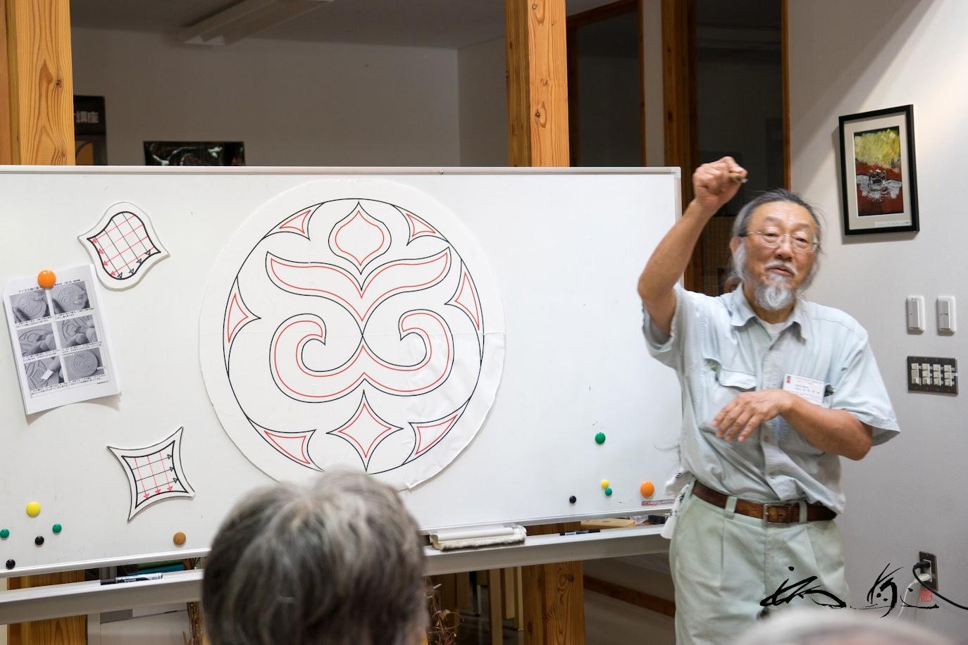 高野繁廣さん(木彫師)のご指導による木彫り体験