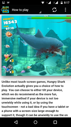 Guide for Hungry Shark Evo