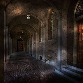 Corridor by Karen Tawater - Buildings & Architecture Architectural Detail