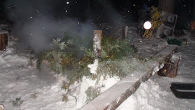 Photo: Smoking fish in the winter