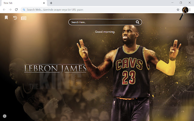 Lebron James HD Wallpapers New Tab