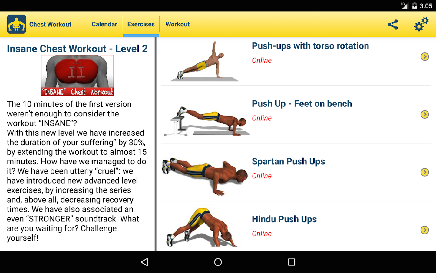 Chest Workout- screenshot