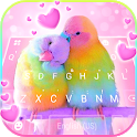 Love Parrots 3D Wallpapers Keyboard Background icon