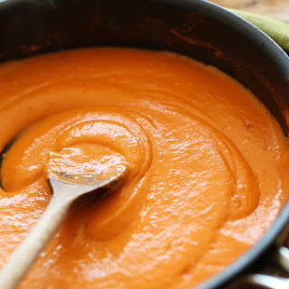 Fit Men Cook: Red Pepper Almond Pasta Sauce