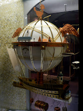 Photo: Model of a fanciful suggestion of a long-distance, passenger balloon-vehicle. http://www.nasm.si.edu/