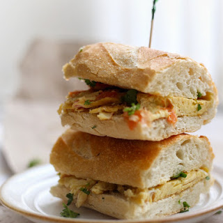 Simple Baguette Egg Sandwich.