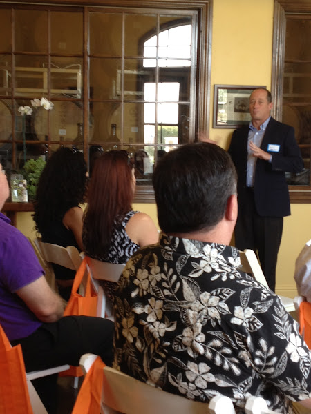 Photo: EarthLink's JR Cook presenting to the group