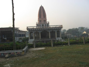 Photo: Memorial Temple of Sri Nabanibandhu Brahmachari beside that of Sri Mahanambrataji in Sri-Angan premises