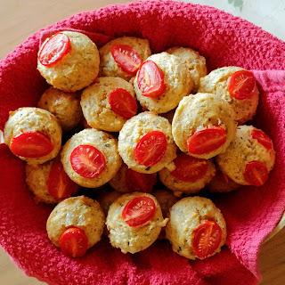 Mini Caprese Cornbread Muffins.