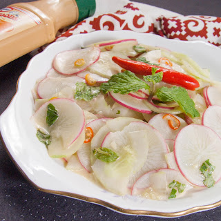 Radish and Cucumber Salad.