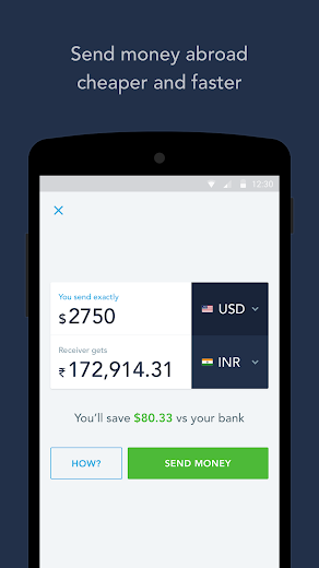 Screenshot 0 for TransferWise's Android app'
