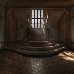 Lux Aeterna by Niki Feijen - Buildings & Architecture Homes ( tonemapping, urbex, stairs, hdr, stairwell, lightray, light, abandoned )