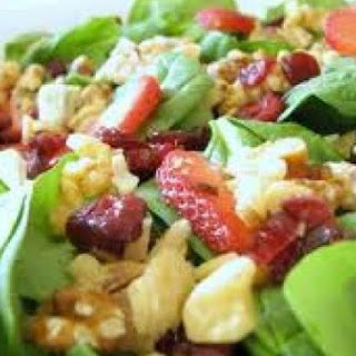 "Fruit and Spinach Salad with ""Xocai Activ"" Vinaigrette."