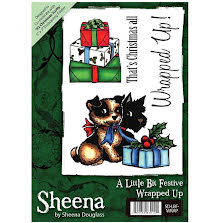 Sheena Douglass A6 Unmounted Rubber Stamp - Wrapped Up UTGÅENDE