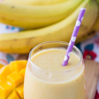 Mango Banana Smoothie.