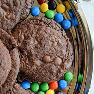 Chocolate Brownie M&M's Cookies