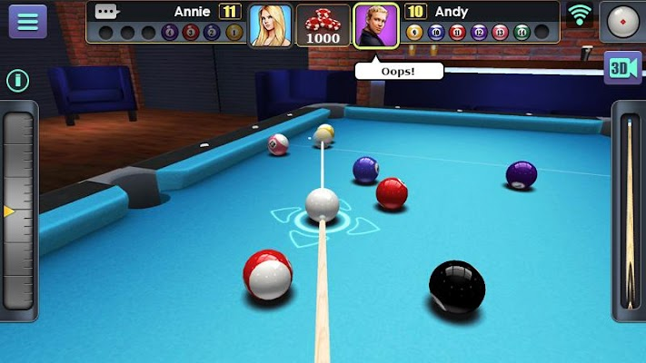 3D Pool Ball Screenshot Image