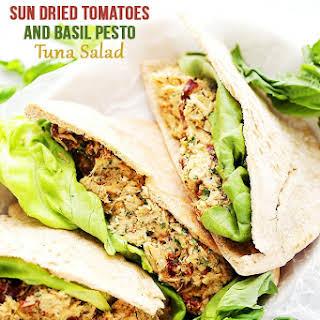 Sun Dried Tomatoes and Basil Pesto Tuna Salad.