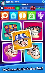 Troll Face Clicker Quest Screenshot