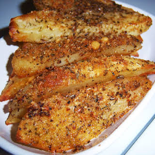 Baked Parmesan Crusted Potato Wedges.