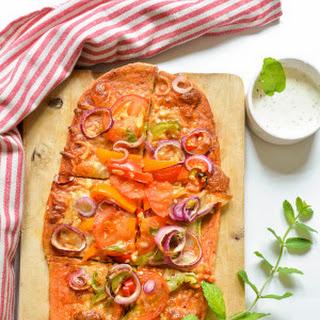 Thin Crust Pizza Recipe | Healthy Whole Wheat Homemade Pizza Recipe