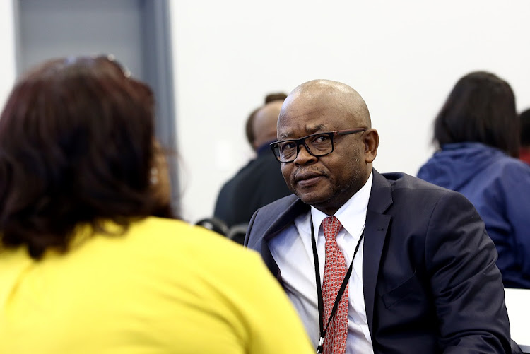 Former GCIS CEO Themba Maseko at the Zondo commission into state capture in Parktown, Johannesburg on August 29 2018.