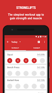 StrongLifts 5x5 Workout Screenshot