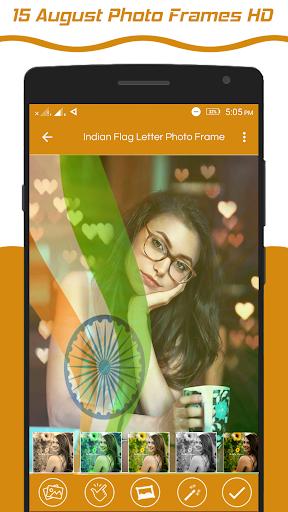 Indian Flag Latter Wallpaper , Flag Photo Frame screenshot 4