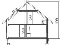 Domek Ciepły 012 ET 50 - Przekrój