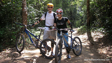 Photo: We rode some amazing downhill trails here. I only ate it a few times