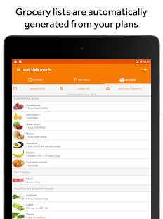 Eat This Much - Meal Planner- screenshot thumbnail