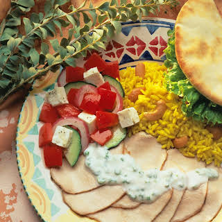 Grilled Greek-Style Pork Roast with Yogurt Sauce.