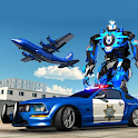 US Police Robot Car Transporter Police Plane Game icon