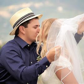 Veil Kiss by Jessica Rose - Wedding Bride & Groom ( veilkiss, brideandgroom, weddingkiss, wedding, kiss,  )