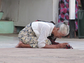 Photo: Year 2 Day 56 - Old Lady Worshipping