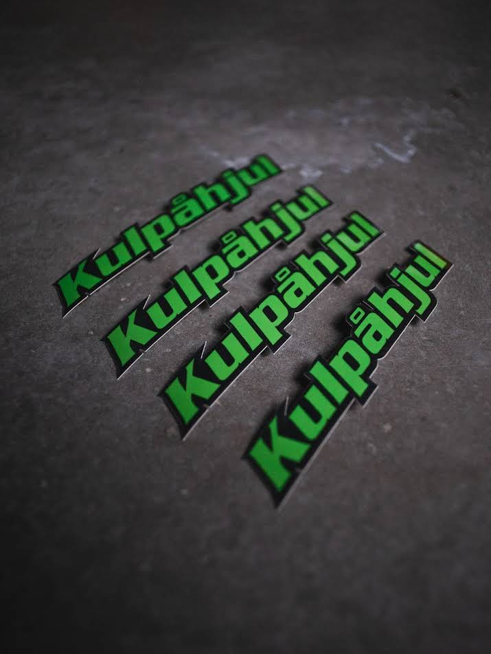 KULPÅHJUL STICKER GRÖN 4 PACK